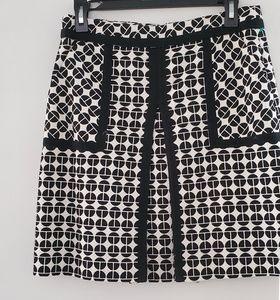 Trina Turk black and white skirt